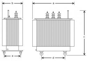 400 kVA, 20/0,27 kV +-4 %, Dy5, Hermetik